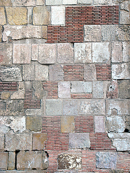 Stone and brick wall Stock Photo