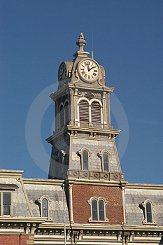 Courthouse Clock Tower Free Stock Image