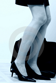 Business womans legs2 Stock Photo