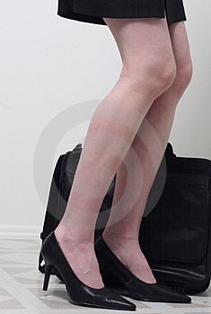 Business Womans Legs Stock Image