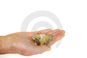 Taking change Stock Photography