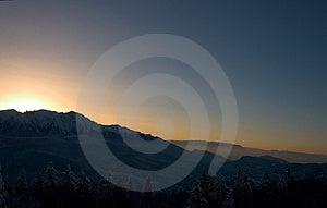 Mountain Sunset Stock Photography