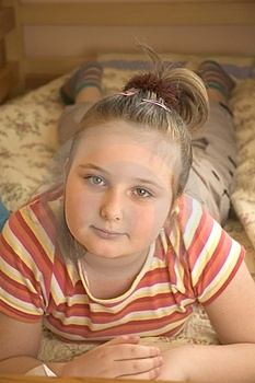 Girl Looking 2 Stock Photo
