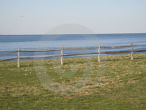 Sea Fence Stock Images