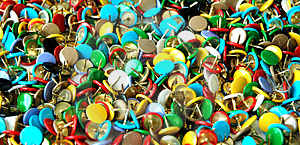 Coloured Corkboard Pins Free Stock Image