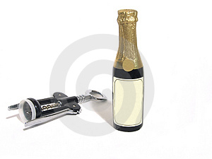 Pop the cork Royalty Free Stock Image
