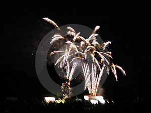 White fireworks Stock Image