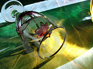 Glass Refraction Stock Image