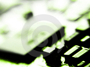 Blurred electronic Royalty Free Stock Image