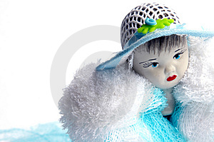 Doll face Royalty Free Stock Image