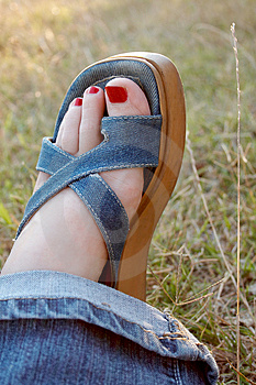 Woman Foot Royalty Free Stock Photography - Image: 1002627