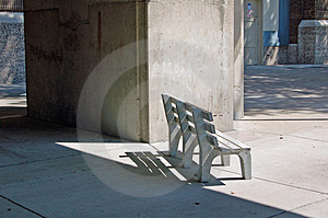 Bench In Shadows Royalty Free Stock Photography - Image: 1004287