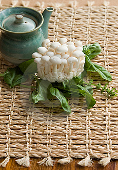 Fresh Enoki Mushrooms Stock Images - Image: 1006544