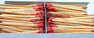 Pile Of Matches In Box Royalty Free Stock Photography - Image: 1007807