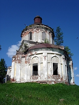 Ruinous Temple In Russia Royalty Free Stock Images - Image: 1009129