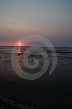 Sunset Over Tidelands Royalty Free Stock Photography - Image: 1009427