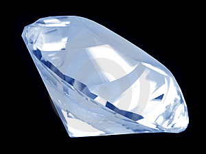 Blue Diamond Crystal (Side) Stock Photo