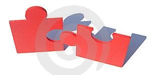 Jigsaw Metaphor Mixed Royalty Free Stock Photos - Image: 10000008