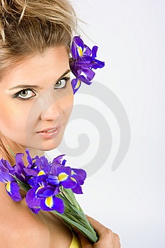 Close-up Fresh Portait With Iris Flowers Royalty Free Stock Images - Image: 10003289