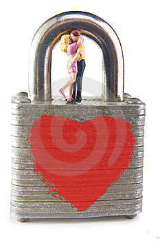 Locked in Love Royalty Free Stock Photos