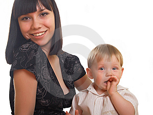 Portrait Of Mum With The Son Royalty Free Stock Image - Image: 10010586