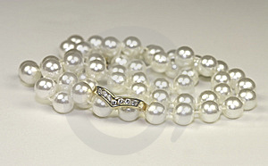 Engagement Rings And Pearls Stock Photo - Image: 10014120