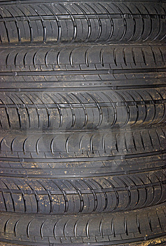 Close-up Of Car Tire Background Stock Image - Image: 10014491