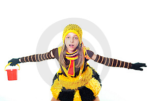 Girl In Bee Dress Stock Photos - Image: 10015333