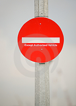 Restricted Access Royalty Free Stock Images - Image: 10015509