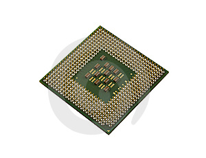 Back Of Processor Royalty Free Stock Photo - Image: 10016015