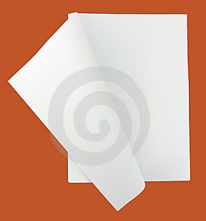 Unfolded Blank Newspaper Royalty Free Stock Photo - Image: 10017585