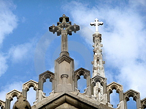 Grace Church Dual Crosses Royalty Free Stock Photography - Image: 10018897