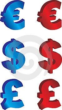 Euro, Pound And Dollar Stock Photo - Image: 10023760