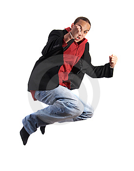 Jumping For Success Royalty Free Stock Images - Image: 10024919