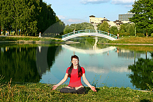 Woman Practicing Yoga Stock Images - Image: 10026304