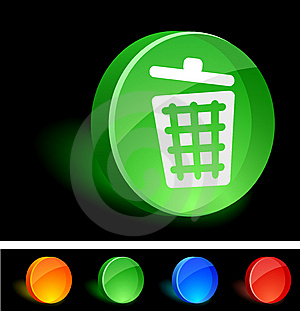 Recycle Bin Icon. Royalty Free Stock Photo - Image: 10026935