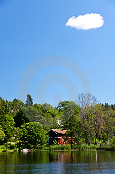Weekend Cottage On The Sea,suburban In Stockholm,S Stock Image - Image: 10028671