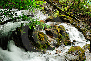 A Small Waterfall Stock Photo - Image: 10032980