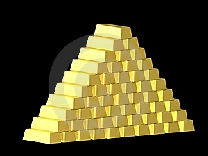 Gold Pyramide Royalty Free Stock Photography - Image: 10033467