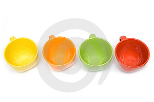 Multicolor Cups Stock Images - Image: 10033804