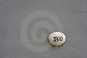 Number 100 On A Wall Stock Photos - Image: 10034043