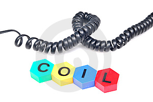 Black Coil Stock Photography - Image: 10034952