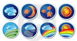 Weather Icons Royalty Free Stock Image - Image: 10035106