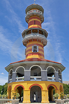 Watchtower In Bangpa-In Palace, Thailand Stock Photos - Image: 10035213