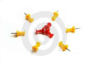 Push Pins Royalty Free Stock Photo - Image: 10037965
