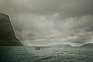 Fishing On Fjord Stock Photos - Image: 10042113