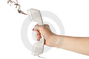 Fuming Handset Stock Photography - Image: 10042992