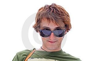 Smiling Positive Guy Stock Photo - Image: 10043040