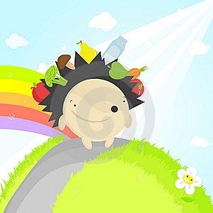 Hedgehog: No Plastic Shopping Bags! Stock Photos - Image: 10046883