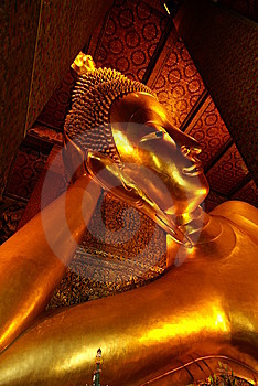 Head Of Giant Sleeping Buddha Statue Stock Photography - Image: 10047742